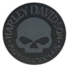 Harley Davidson ® Black Willie G Skull emblème Patch Large EM1048804 Neuf Authentique