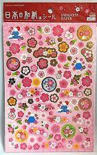 Stickers Decoration Japanese Design Paper Pink Sakura Daiso Made in Japan