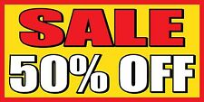 4'x8' SALE 50% OFF - Vinyl Banner Sign - clearance, percent, everything must go