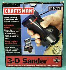 Craftsman 3-D Handheld Sander and Sanding Disc KitW/Original Box - Tested