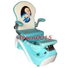 Elsa & Anna Kid Pedicure Chair / Nail Salon Massage Chair Mini Spa Chair FROZEN