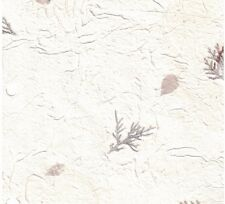 12x12 H-13 White Pine and Leaf Nature Handmade Paper Scrapbooking 10 Sheets