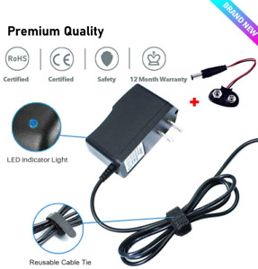 9V 1A Power Supply Adapter Charger AC DC Transformer 5.5mm x 2.1~2.5mm