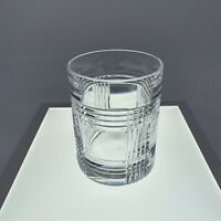 Ralph Lauren GLEN PLAID Double Old Fashioned Glasses Whiskey EUC