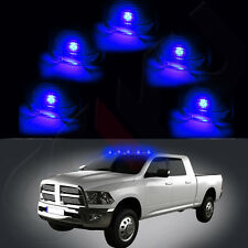 5x Smoke Cab Roof Marker Lamps+5x Free LED Light Blub For 99-16 Ford F-250 F-150