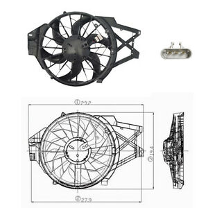 Dual Rad & Cond Fan Assembly Fits: 1999 - 2004 Ford Mustang V6 3.8L ONLY