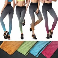 Women's Stretch High Waist Gym Yoga Fitness Leggings Pants Cropped Trousers Hot
