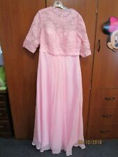 Brides New w tags Pink Gown Wedding Prom Sz 16 W by Bridess Molded Bust Bra