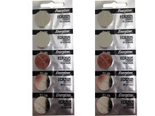 10 Pcs Energizer 2025 ECR2025 CR2025 3V Lithium Button Cell Batteries