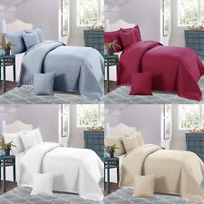 Luxury Quilt Bedspread Embossed Bed Throw Single Double King Size Comforter Sets