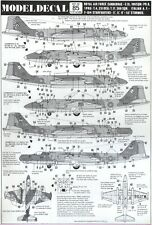 NEW 1:72 Modeldecal 85 BAC / EE Canberra E.15 / T.4 / T.17 - F-104G Starfighter