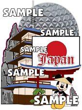 Disney World Epcot World Showcase Japan Mickey Scrapbook Paper Die Cut Piece