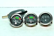 Massey Ferguson Gauge Set- Oil Pressure (Male), Temp, Fuel MF 35,50,65,135,150