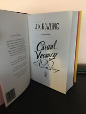 """SIGNED"" The Casual Vacancy by J. K. Rowling (Hardback, 2012) 1st/1st"