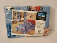 "Vintage 1966 Peanuts Gang Bedroom set Draperies Muslin Montgomery Ward 48"" x 63"""
