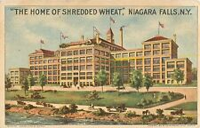 """1915 """"The Home Of Shredded Wheat"""" Cereal Advertising - Niagara Falls NY Postcard"""
