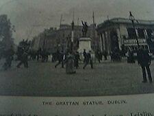 ephemera 1905 picture the grattan statue dublin