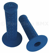 AME old school BMX Tri bicycle grips - BLUE *MADE IN USA*