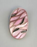 9925775 925er Silber Anhänger Perlmutt rosa 2,5x4cm