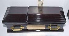 "Wedding Ring Coffin Wooden Replica Casket ""Death""/Divorce of Marriage /Humerous"