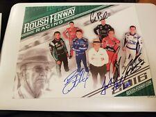 Jack Roush signed 8x10 photo Plackard Roush Racing Owner HOF autographed