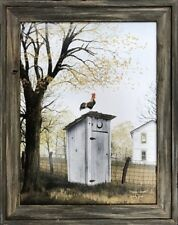 PHOTOGRAPHY COMPOSITION RED BRICK OUTHOUSE TREE OVERGROWN PRINT POSTER MP3428B