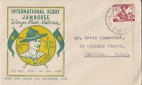 AFD926) Australia 1952 Smyth FDC - Pan: Pacific Scout Jamboree At Greystanes