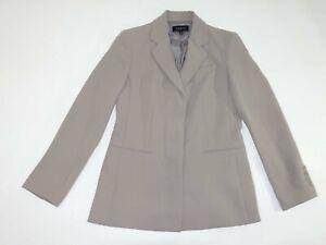 Talbots Women's 3 Button Blazer Jacket Size 6 Taupe 100% Polyester Suit Coat EUC