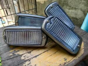 DATSUN 510 240Z 260Z 280Z 120Y B210 Front&Rear Side Marker LIGHT Lamps CLEAR X4