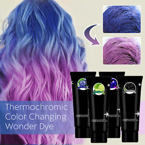 HAIR DYE CREAM THERMOCHROMIC COLOR THERMO SENSING HAIR COLOR FASHION STYLE ALL