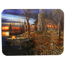 d75671076232 Rivers Edge Products Cabin Scene Tempered Glass Cutting Board 746