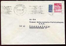 OCTOBER 1948 BERLINER NOTOPFER COVER HAMBURG to REGENSBURG