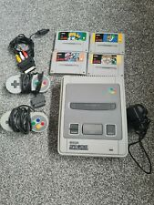 Super Nintendo SNES Console Bundle 4 Games and 2 Controllers Mario All Stars