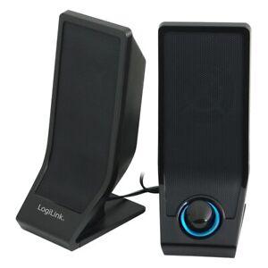 LogiLink PC Lautsprecher 2.0 PC Speaker Multimedia Boxen für PC Computer Laptop