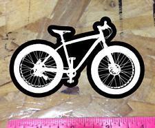 Fat Bike Black/White Mountain Bike Sticker Decal Graphic Bicycle MTB