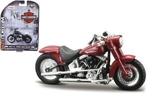 Harley Davidson 2000 FLSTF Rue Stalker, Maisto Moto Modèle 1:24