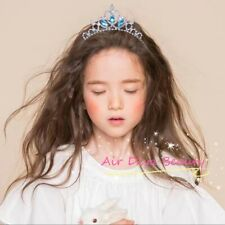 Girls Blue Metal Princess Crystal Frozen Elsa Hair Band Tiara Crown headband