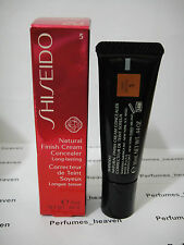 Shiseido Natural Finish Cream Concealer Deep Bronze #5 .44 oz / 10 ML NEW IN BOX