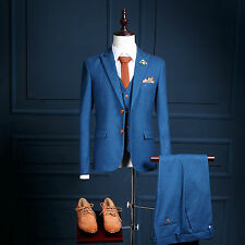 Men's Three-Piece Formal Male Suits of Cultivate One's Morarality Business Suits