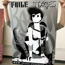 FAILE Stages Belgium Show Poster Signed Free Shipping Kaws Banksy