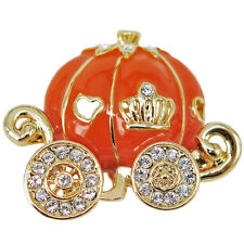 RUCINNI Pumpkin Carriage Brooch