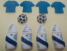 Everton Cake Cupcake Toppers Set of 10 EFC Football Toppers