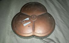 Vintage Trinket Box Storage Glass Container With Copper Colored Tin Lid