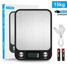 15kg/1g Inox Balance de Cuisine Dispositif Pesage à Usage Domestique 6 Unités