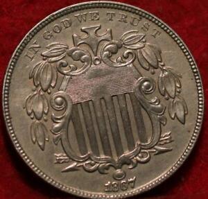 1867 Philadelphia Mint Silver Shield Nickel with Rays