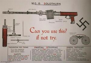 WW2 Home Guard Weapons Training Posters Set of 6