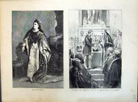Old 1871 Mrs Scott-Siddons Presenting Freedom City Prince Arthur Guil Victorian