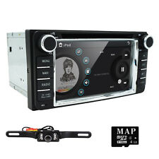 Double 2DIN Car DVD GPS Navigation Player Touch Screen For Toyota Stereo Radio