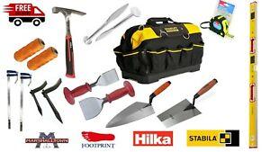 Marshalltown, Stabila, Footprint, Hilka Builders Bricklayer Tools Set 12pc Kit