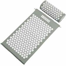 Yogu Acupressure Mat and Pillow Set Back Neck Pain Relief Muscle Relaxation